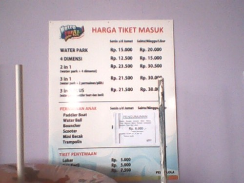 Tarif Waterpark